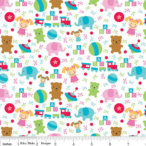 Cotton Quilt Fabric Flannel Christmas Santas Workshop Santa Toys White  - product images  of