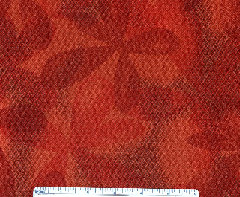 Cotton Quilt Fabric Rajasthan Jinny Beyer Floral Tone On Tone Orange - product images  of