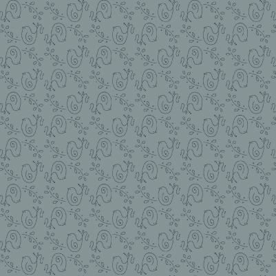 Cotton Quilt Fabric Among The Flowers Gray Pewter Tone On Tone Birds - product images  of