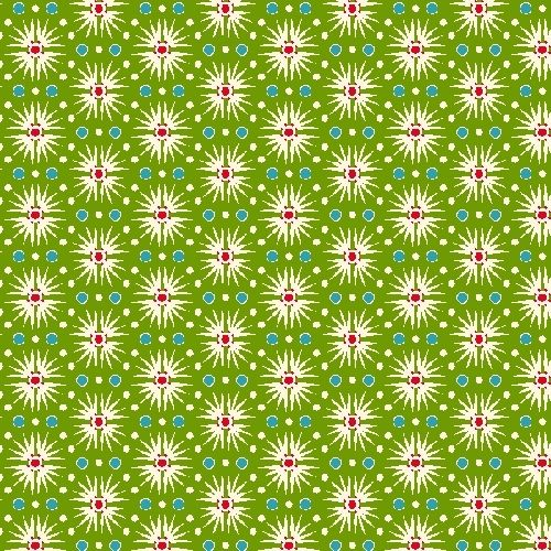 Cotton Quilt Fabric Candy Cane Christmas Burst Red Green Andover - product images  of