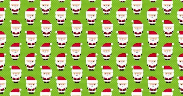 Cotton Flannel Quilt Fabric Christmas Santa Express Santas Green - product images  of