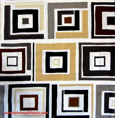 Modern,Block,Print,Benartex,Dwellings,Box,Trot,Ivory/Gray,1,Panel,quilt fabric,cotton material,auntie chris quilt,sewing,crafts,quilting,online fabric,sale fabric