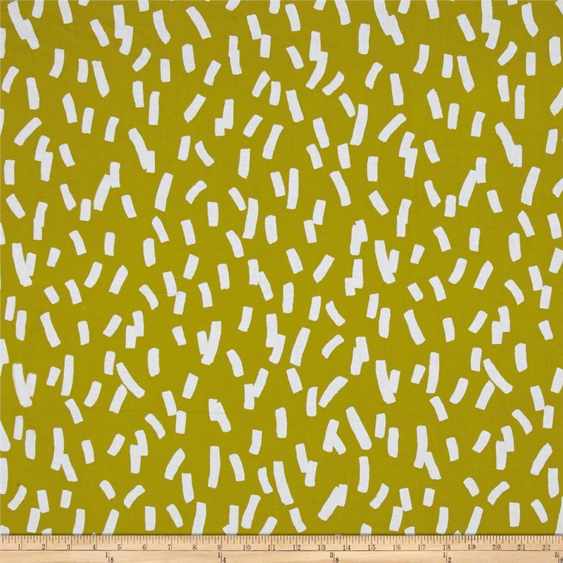 Cotton Quilt Fabric Contempo Dwellings Green Confetti Geometric Green - product image