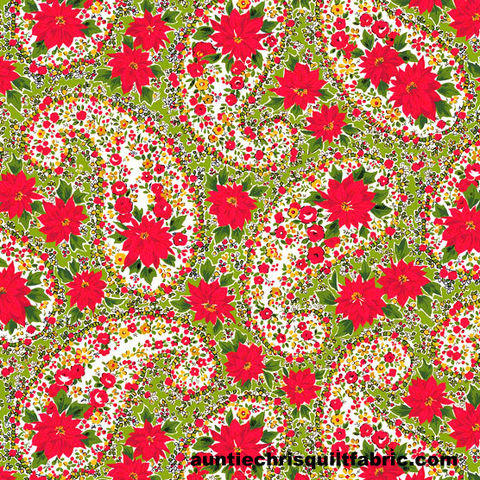 Cotton,Quilt,Fabric,Christmas,Poinsettia,Large,Paisley,Green,Andover,Fabrics,,quilt backing, dresses, quilt fabric,cotton material,auntie chris quilt,sewing,crafts,quilting,online fabric,sale fabric