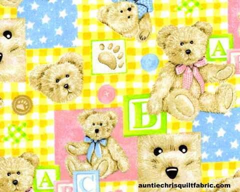Cotton,Quilt,Fabric,Boyds,Bears,Nursery,Baby,Pastels,Blocks,SPX,Fabrics,,quilt backing, dresses, quilt fabric,cotton material,auntie chris quilt,sewing,crafts,quilting,online fabric,sale fabric