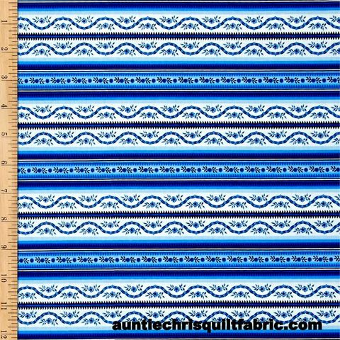 Cotton,Quilt,Fabric,Botanica,III,The,Royal,Story,Stripe,White/Royal,,quilt backing, dresses, quilt fabric,cotton material,auntie chris quilt,sewing,crafts,quilting,online fabric,sale fabric