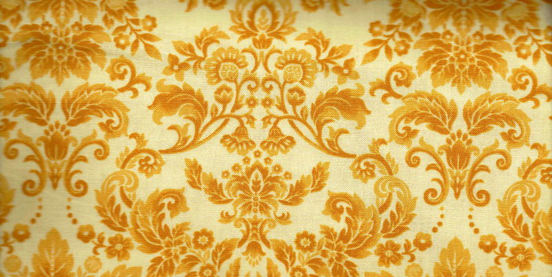 Cotton Quilt Fabric Botanica III The Royal Story Yellow Damask - product image