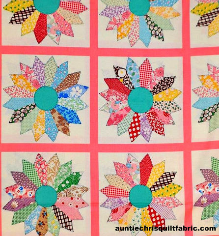 Cotton,Quilt,Fabric,Panel,Thirties,Tick,Tack,Piece,Work,Pink,Japan,,quilt backing, dresses, quilt fabric,cotton material,auntie chris quilt,sewing,crafts,quilting,online fabric,sale fabric