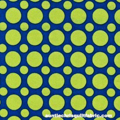 Cotton,Quilt,Fabric,Spot,On,Multi,Size,Dots,Sapphire,Blue,Lime,,quilt backing, dresses, quilt fabric,cotton material,auntie chris quilt,sewing,crafts,quilting,online fabric,sale fabric