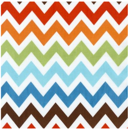 Cotton Quilt Fabric Remix Chevron Stripe Burmuda White Multi - product images  of