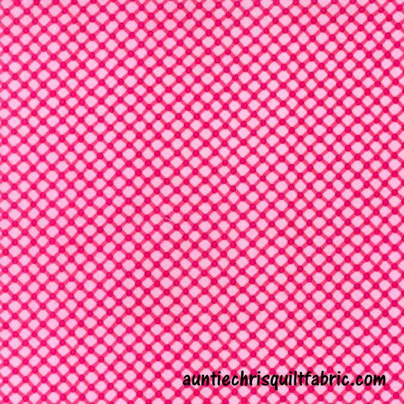 Cotton Quilt Fabric Cora Pink Bias Check Lattice CX5911 - product images  of