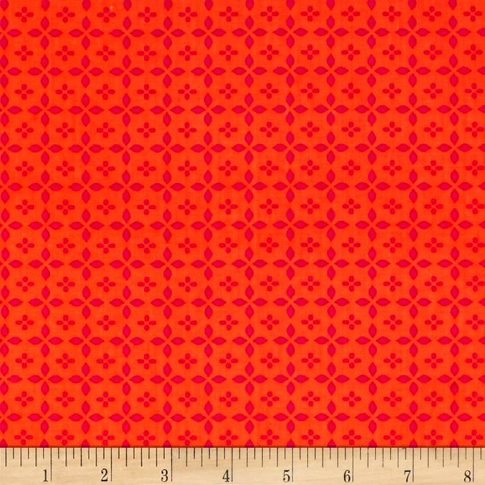 Cotton Quilt Fabric TIMELESS TREASURES PETALMANIA GEO Orange - product images  of