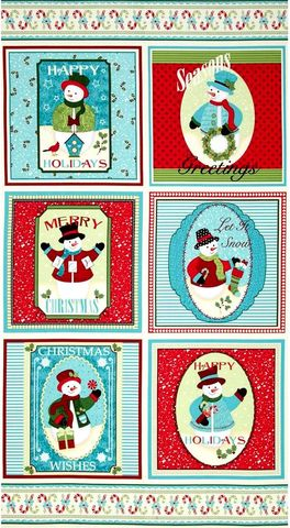 Cotton,Quilt,Fabric,Happy,Holidays,Snowmen,Christmas,Panel,23,#4571,,quilt backing, dresses, quilt fabric,cotton material,auntie chris quilt,sewing,crafts,quilting,online fabric,sale fabric