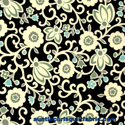 Cotton Quilt Fabric Denyse Schmidt New Bedford Tapestry Floral Sea - product images  of