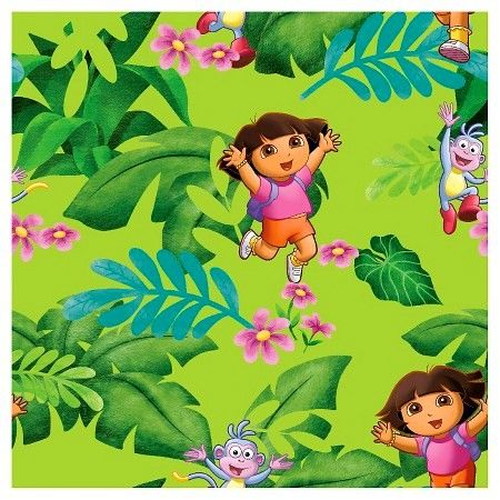 Cotton Quilt Fabric Nickelodeon One Hip Explorer Dora Fabric Jungle  - product images  of