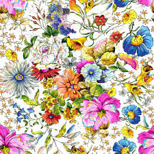 "Floral Fantasy Quilt Kit Spring Floral Lattic 77"" x 93"" - product images  of"