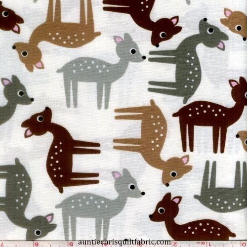 Cotton Quilt Fabric Modern Deer Screen Print Robert Kaufman - product image