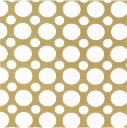 Cotton Quilt Fabric Spot On Multi Size Dots Tan White - product image