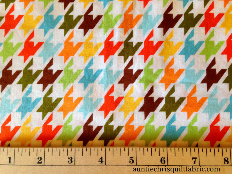 Cotton Quilt Fabric Remix Houndstooth Garden Check Bermuda - product images  of