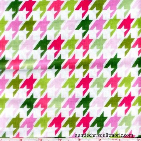Cotton,Quilt,Fabric,Remix,Houndstooth,Garden,Pink,Check,,quilt backing, dresses, quilt fabric,cotton material,auntie chris quilt,sewing,crafts,quilting,online fabric,sale fabric