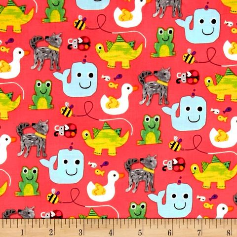 Cotton,Quilt,Fabric,Colors,And,Count,Fun,Animals,Frog,Duck,Bee,,quilt backing, dresses, quilt fabric,cotton material,auntie chris quilt,sewing,crafts,quilting,online fabric,sale fabric