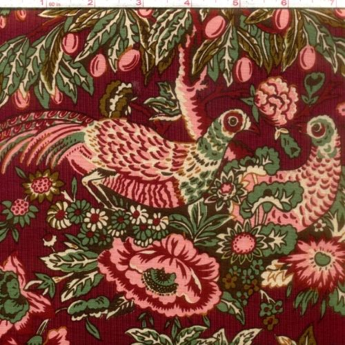 Cotton Quilt Fabric Houghton Hall Colonial Civil War C5260 Red - product images  of