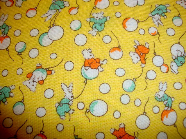 Cotton Quilt Fabric Toy Chest 1930's Reproduction Riley Blake Yellow - product images  of