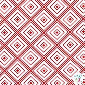 Cotton Quilt Fabric Metro Living Box Stripe Red Modern Geometric - product images  of