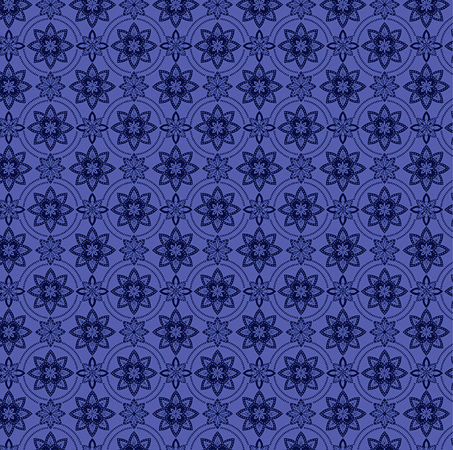Cotton Quilt Fabric Mosaic Blooms Modern Floral Periwinkle Blue Purple - product image