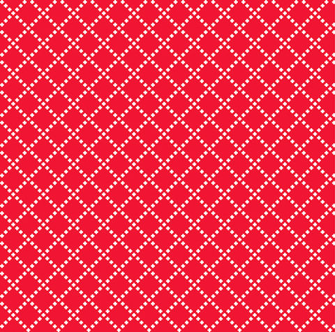 Cotton,Quilt,Fabric,Good,Neighbors,Cross,Stitch,Tomato,Red,,quilt backing, dresses, quilt fabric,cotton material,auntie chris quilt,sewing,crafts,quilting,online fabric,sale fabric