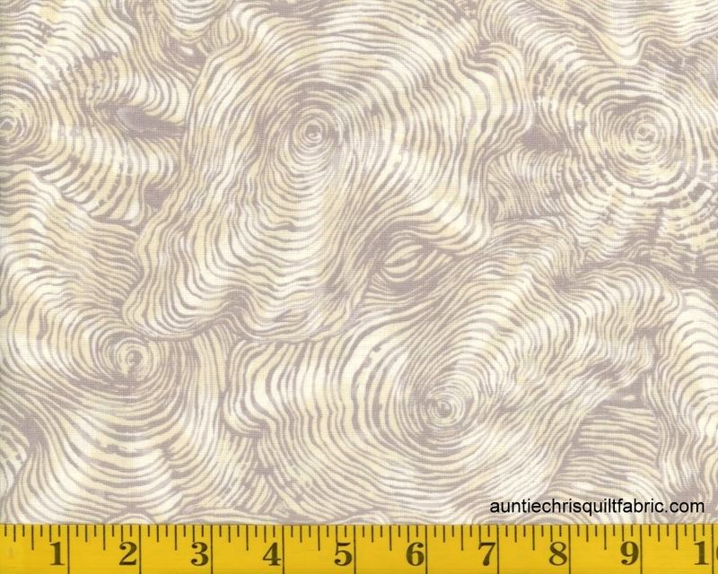Cotton Quilt Fabric Paintbrush Studio Dryad Cross Sections Tree Rings Silver - product images  of
