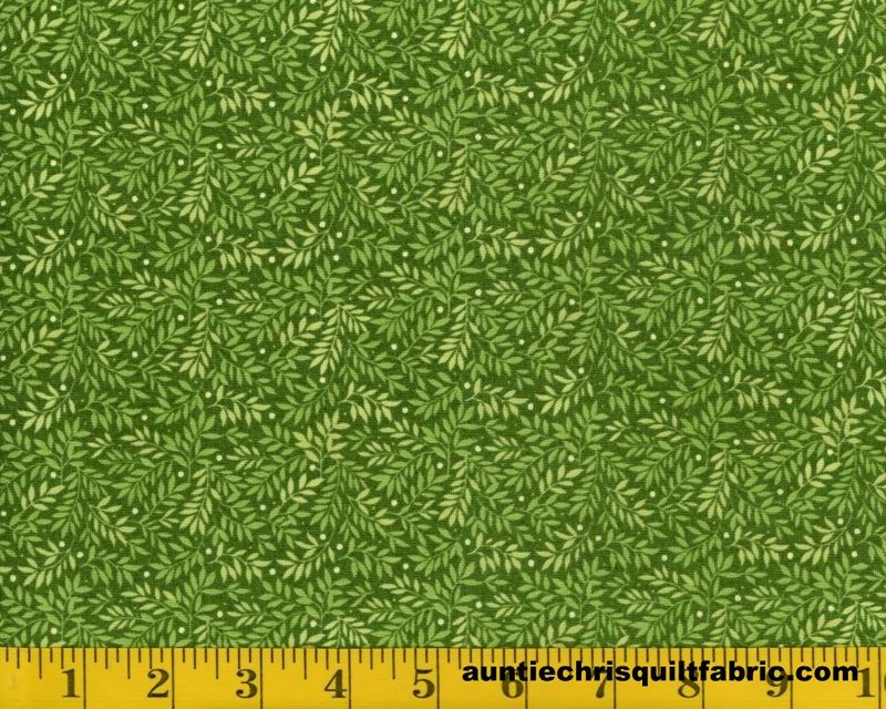 Cotton Quilt Fabric Fabri Quilt Bear Hugs Leaf Print Green 11229441 - product image