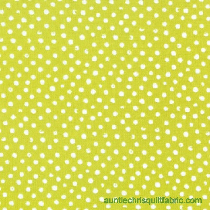Cotton Quilt Fabric Oh Happy Day Grass Confetti Dot Green - product images  of