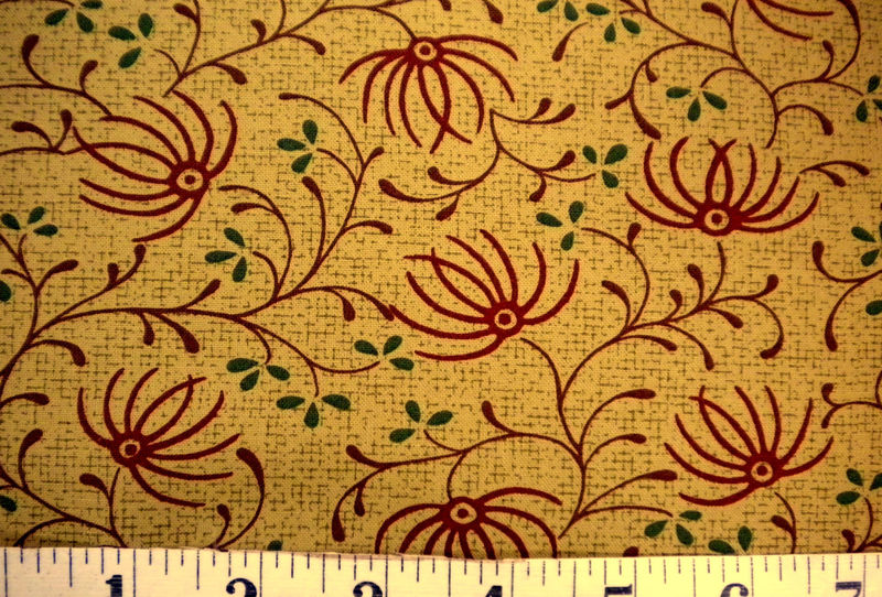 Cotton Quilt Fabric Autumn Landscape Floral Branch  - product images  of