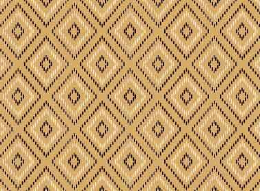 Cotton Quilt Fabric Modern Stitching Ikat Bias Check Tan Black - product images  of