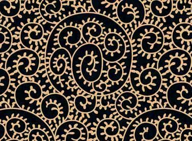 Cotton Quilt Fabric Mochachino Penny Sturges Black Tan Swirl - product images  of