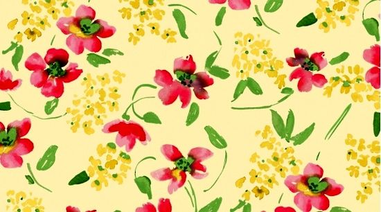 Cotton Quilt Fabric Dear Stella Watercolor Floral Yellow Multi - product images  of