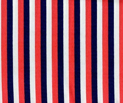 Cotton Quilt Fabric Dear Stella French Lessons Stripe Red Stripe Multi - product images  of