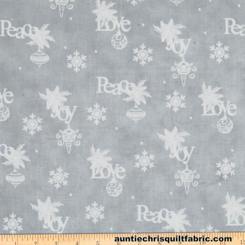Cotton Quilt Fabric Christmas Christmas Wishes Wrapping Paper Mist - product images  of