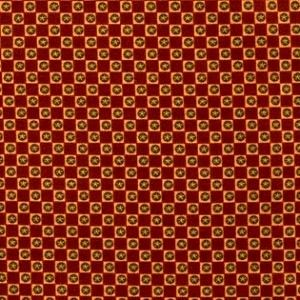 Cotton Quilt Fabric Highland Lynette Anderson Twin Flower Burgundy - product images  of