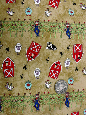 Cotton,Quilt,Fabric,Farm,Doodles,Pig,Sheep,Cows,Scarecrows,Green,,quilt backing, dresses, quilt fabric,cotton material,auntie chris quilt,sewing,crafts,quilting,online fabric,sale fabric