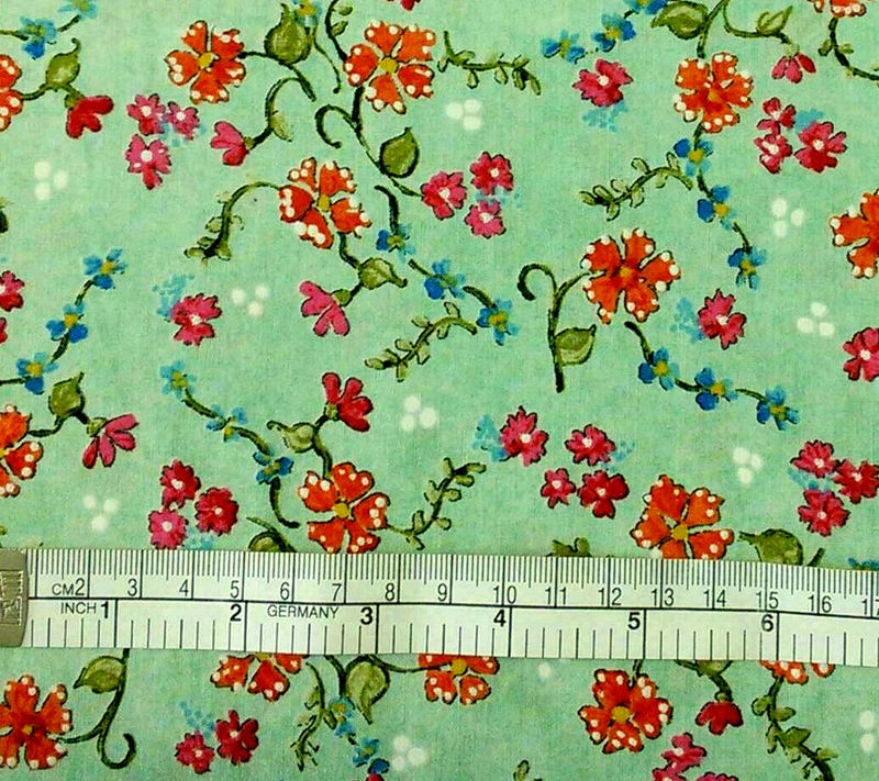 Cotton Quilt Fabric Paris Panache Floral Vines Light Green Pearl Krush - product images  of