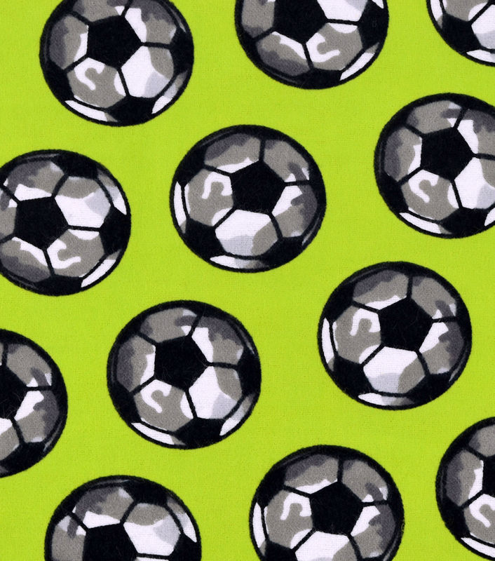 Cotton Flannel Quilt Fabric Snuggle Fabric-Camo Soccer Ball - product images  of