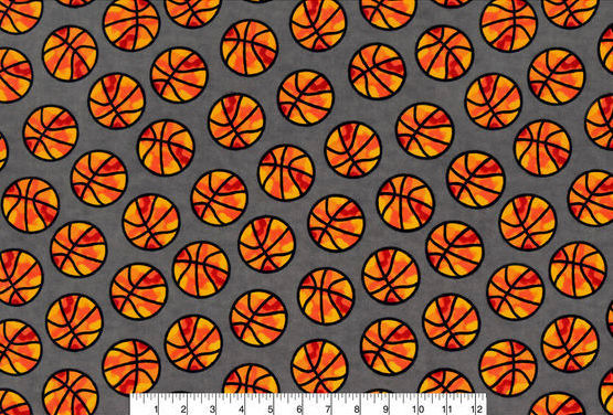 Cotton Flannel Quilt Fabric Snuggle Fabric-Camo Basketball - product images  of