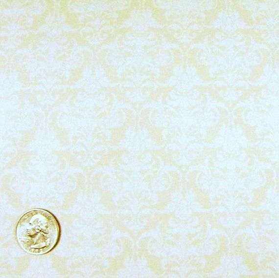 Cotton Quilt Fabric Kona Bay Shadowland Jason Yenter White Scroll Damask  - product images  of