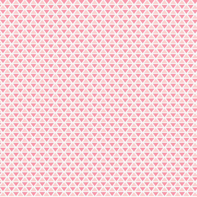 Cotton Quilt Fabric TRI THESE ANGLES Rose Quartz & SERENITY Triangles Pink - product images  of