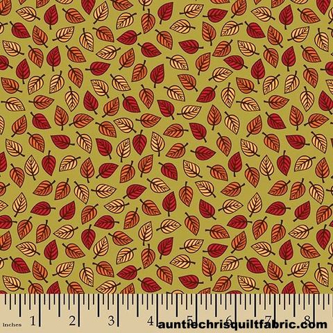 Cotton,Quilt,Fabric,Autumn,Palette,Small,Leaves,Fall,Green,Multi,,quilt backing, dresses, quilt fabric,cotton material,auntie chris quilt,sewing,crafts,quilting,online fabric,sale fabric
