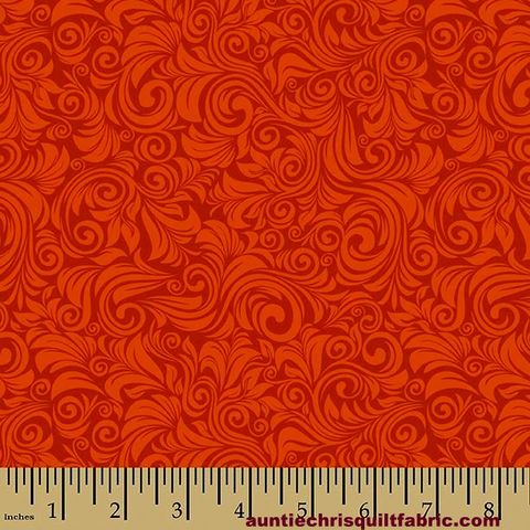 Cotton,Quilt,Fabric,Autumn,Palette,Flourish,Persimmon,Rust,Tone,On,,quilt backing, dresses, quilt fabric,cotton material,auntie chris quilt,sewing,crafts,quilting,online fabric,sale fabric