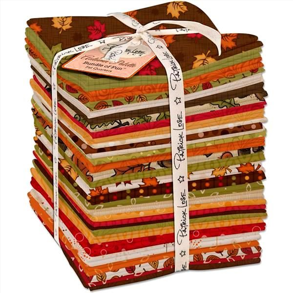 Cotton Quilt Fabric Autumn Palette Flourish Persimmon Rust Tone On Tone - product images  of