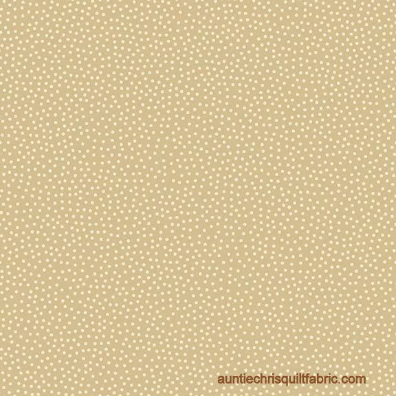 Cotton Quilt Fabric Winter Wonderland Scattered Dots Tan - product image